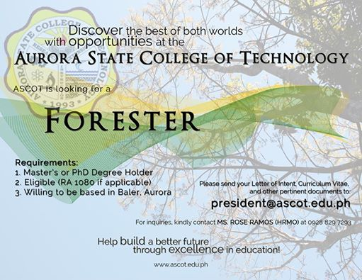 Job Opening: Forester
